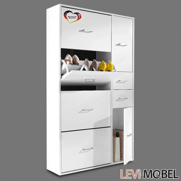 schuhschrank maxi garderobe aufbewahrung flur wei matt neu 867419 ebay. Black Bedroom Furniture Sets. Home Design Ideas