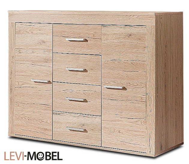 sideboard kommode wohnzimmer anbauwand eiche san remo matt neu 221665 sideboard. Black Bedroom Furniture Sets. Home Design Ideas