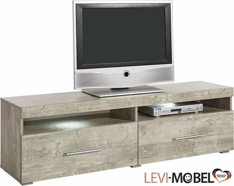 tv lowboard wohnzimmer wohnwand anbauwand beton optik matt. Black Bedroom Furniture Sets. Home Design Ideas