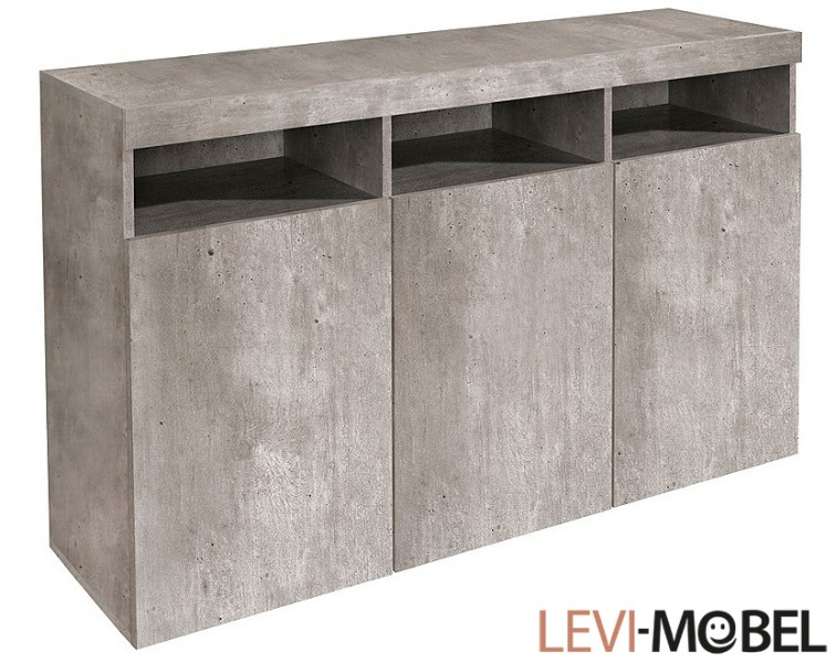 sideboard kommode wohnzimmer schrank wohnzimmer beton optik neu 203617 ebay. Black Bedroom Furniture Sets. Home Design Ideas