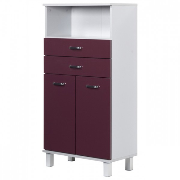 midischrank badezimmer badm bel wei aubergine matt neu 109742 ebay. Black Bedroom Furniture Sets. Home Design Ideas